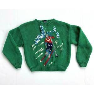 Gap Vintage Kids Wool Green Skier Sweater